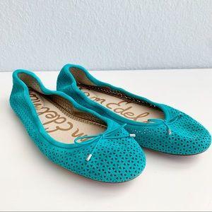 Sam Edelman Turquoise Ballet Flats Size 7